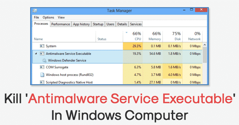 Antimalware Service Executable has Stopped Working