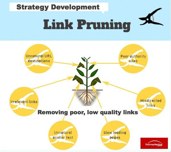 Link pruning: How to analyze an incoming link