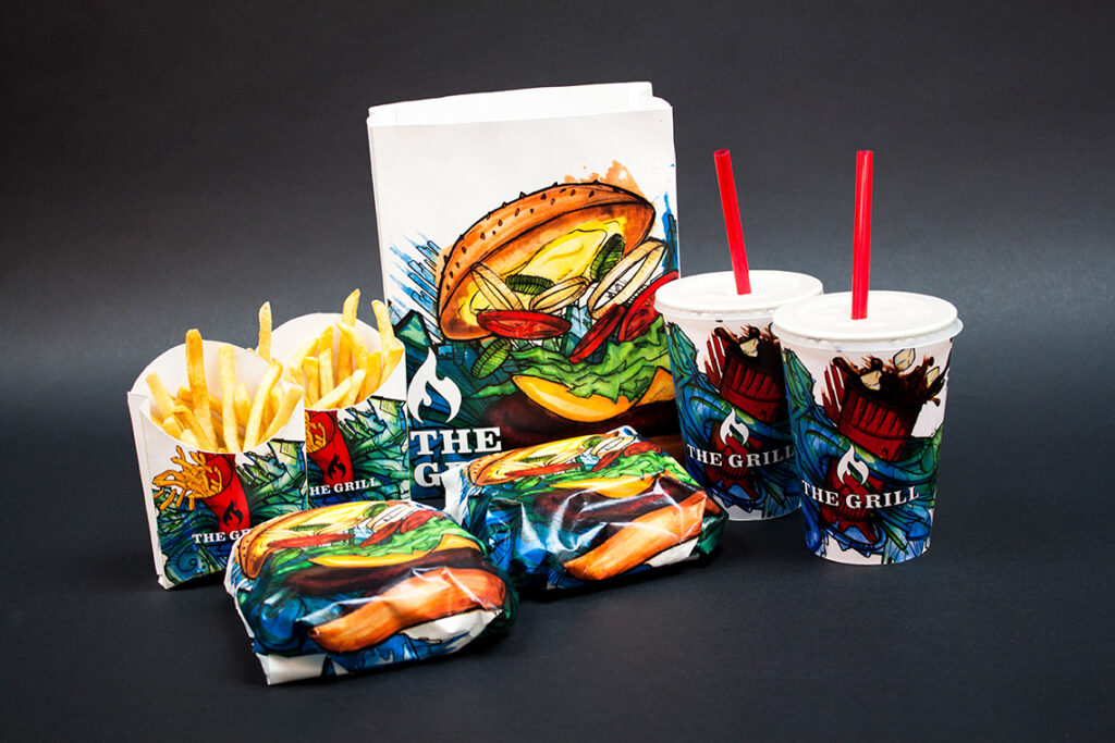 Fast-food packaging is a beautiful trend in the food world