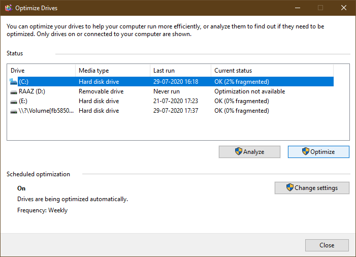 how to clear up disk space