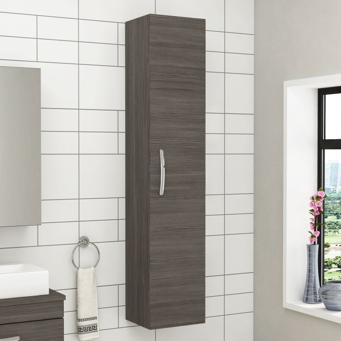 White is marvellous colour to get in bathroom storage cabinets