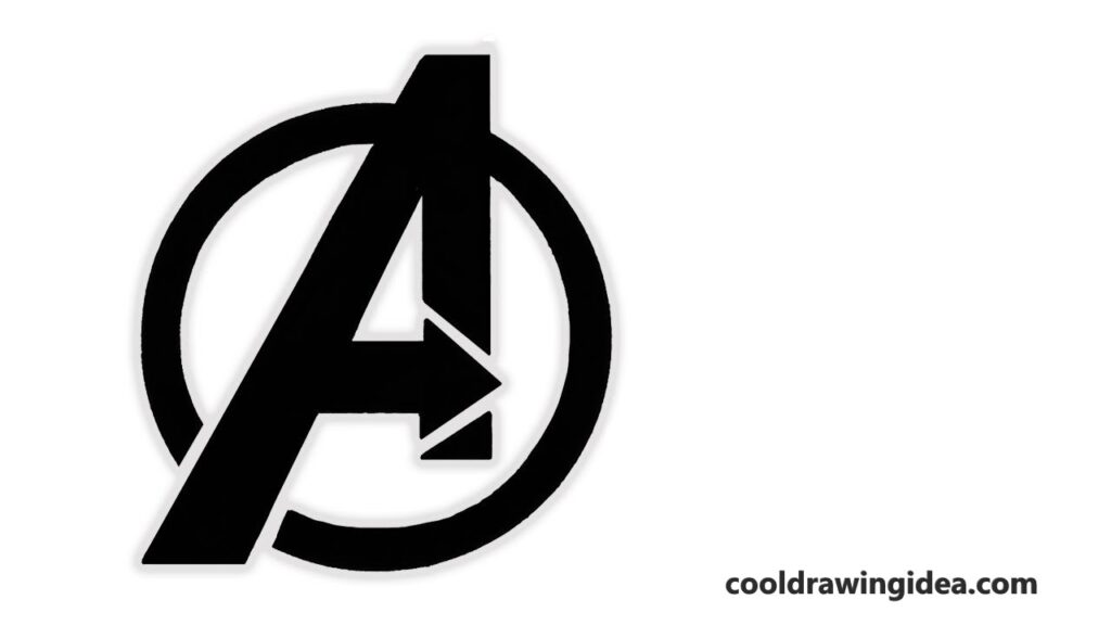 how to draw avengers logo
