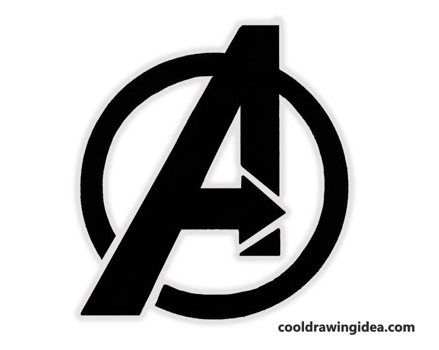 How To Draw Avengers Logo, How To Draw Avengers Logo