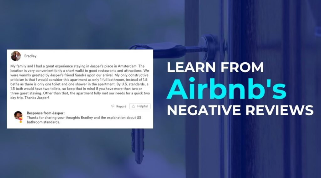 Want to Clone Airbnb? Learn from Negative Airbnb Reviews