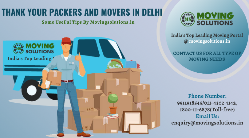 packers and movers, How to Thank Your Movers for Their Help?