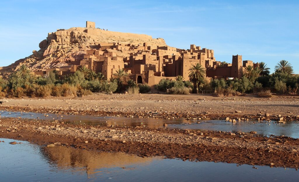 Ait Ben Haddou fortress, clay buildings