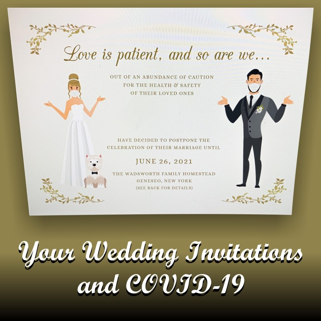 Your Wedding Invitations and Covid-19