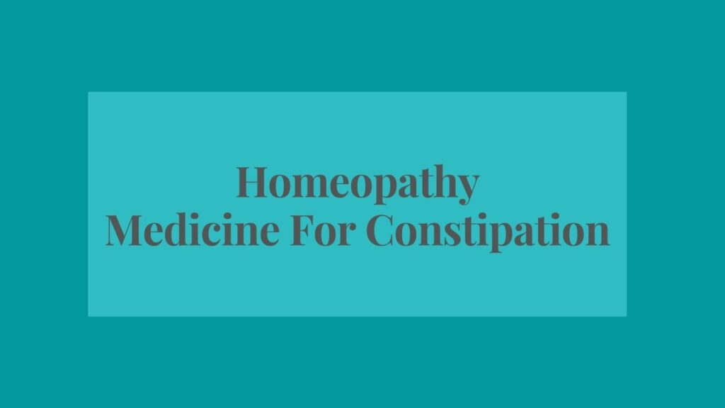 buy homeopathy medicine for constipation