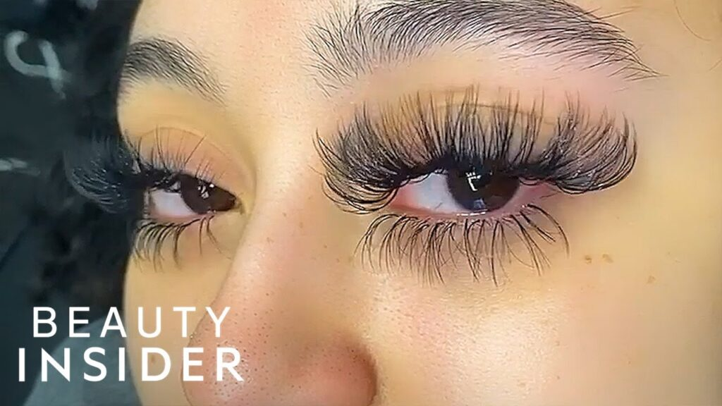 Lash extensions and oil-based products