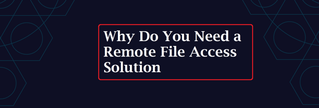 Why Do You Need a Remote File Access Solution