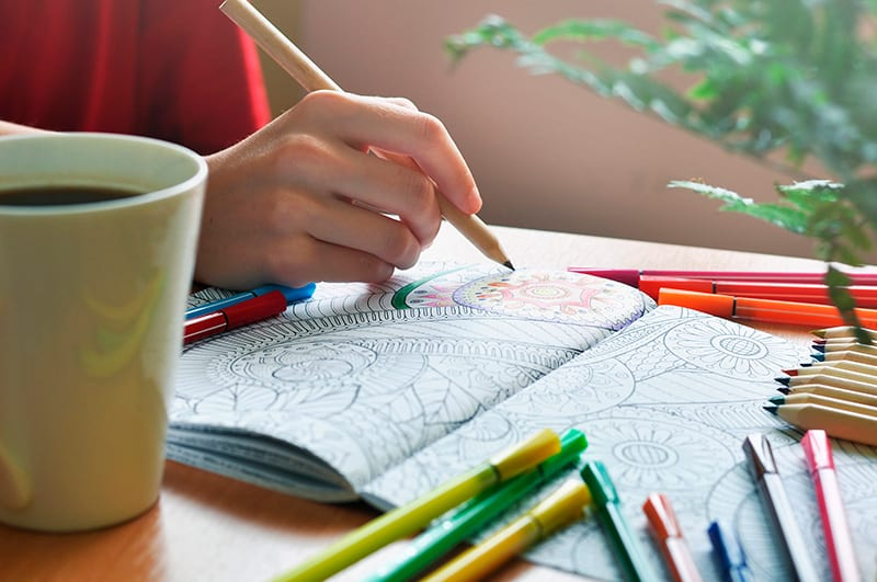 What are the benefits of coloring mandalas?