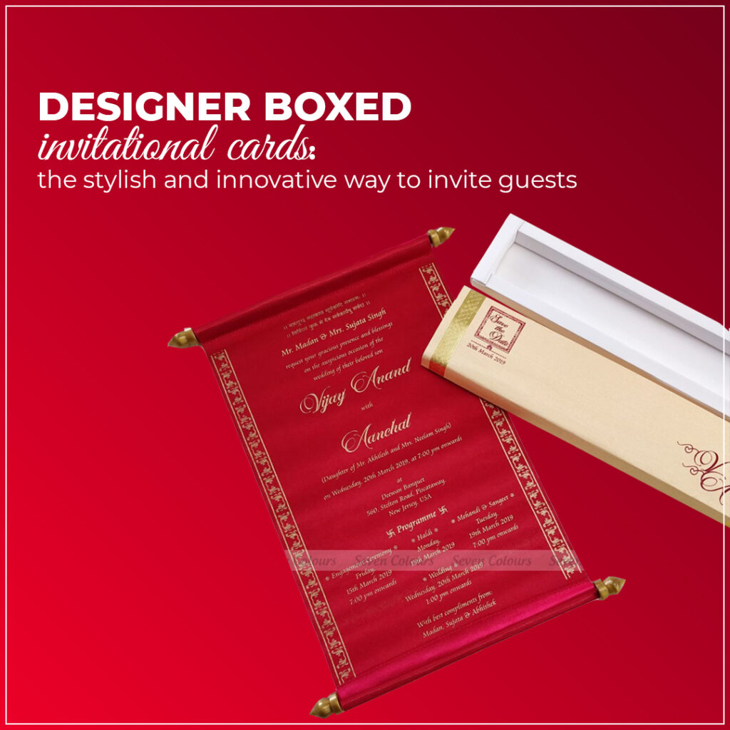 Designer boxed invitational cards: the stylish and innovative way to invite guests