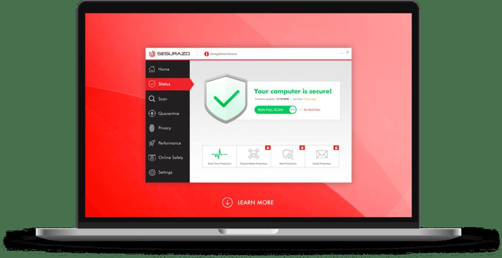 How to remove Segurazo antivirus 2021 from Windows?