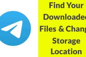 View Downloaded Files in Telegram