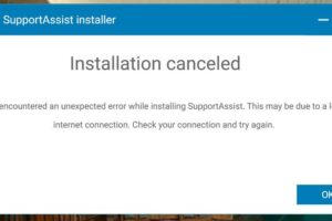 Dell Supportassistant not working