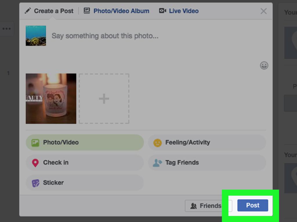 upload images to facebook